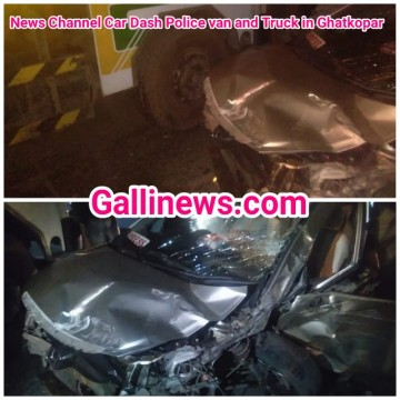 News Channel Car Dash Police Van and Truck   Ghatkopar