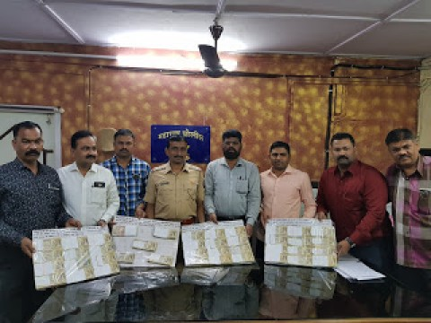 20 lakh ki  old demonetised notes seized at Ulhas nagar 1 giraftar