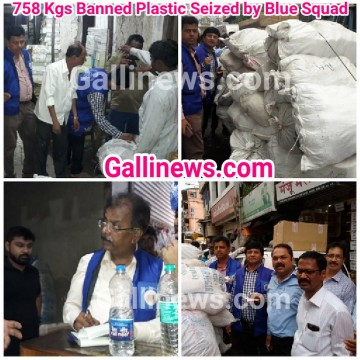 758 Kgs Banned Plastic Seized by Blue Squad