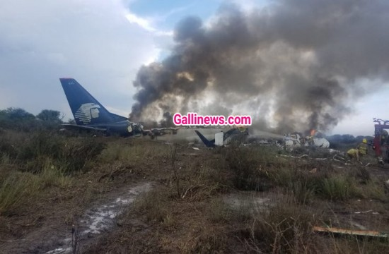 Plane Crash in Mexico 103 on Board are Safe