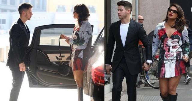 priyankachopra steps out in Milan with husband  nickjonas Peep in for pictures
