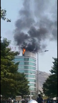 Fire Break Out At Reliance Park Aeroli Navi Mumbai