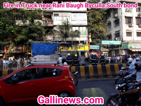 Fire in Truck near Rani Baugh Byculla South bond