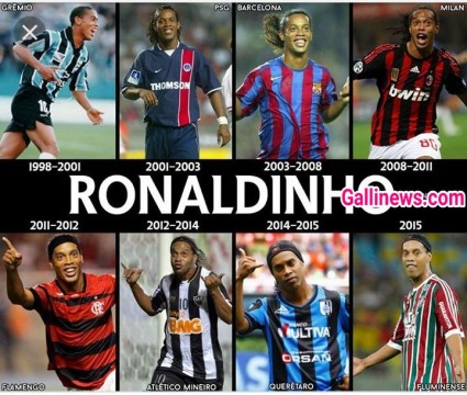 Brazil ko World Champion banane waale Ronaldinho ne liya Football se retirement
