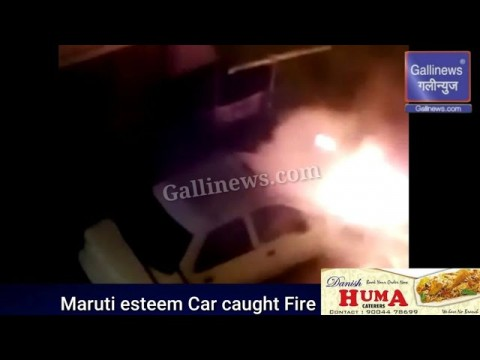 Car Caught Fire in Parel