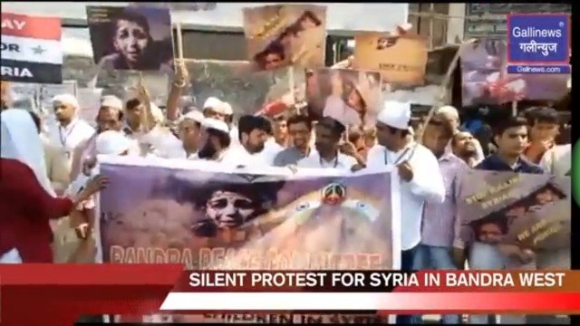 Silent Protest For Syria,Save Innocent Human Lives In Syria.