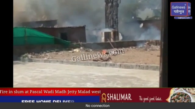 Fire in slum at Pascal Wadi Madh Jetty Malad west