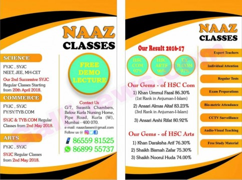 Offer For SSC Passed Student Naaz Classes