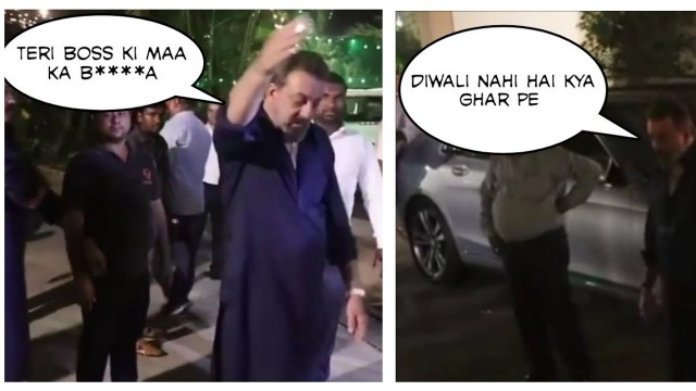 Drunken Sanjay Dutt Convey Good Gesture Message in A Wrong Way to Reporters on Diwali