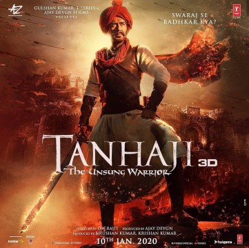 Akshay Kumar shares the new poster Tanhaji congratulating Ajay Devgn for his century