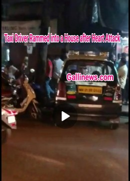 Chalti Taxi driver ko heartattack Taxi Ghusi Ek Ghar May 5 Injured Mahim