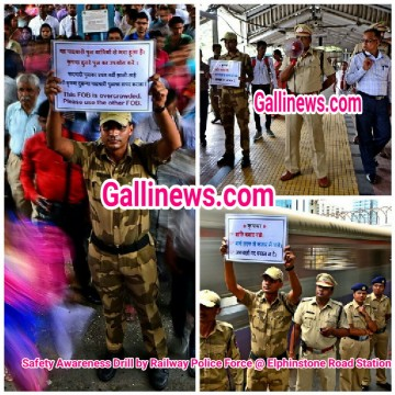 Safety Awareness Drill by Railway Police Force Elphinstone Road Station