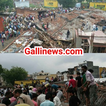 Under Constuction 5 Manzila Building giri 4 Injured Ghaziabad