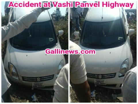 Accident at Vashi Panvel Highway