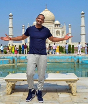 Hollywood Actor Will Smith at Taj Mahal