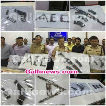 Under World Dawood Ibrahim and Chota Shakil ke Gurge Naeem Khan ki wife arrested with AK56 and 3 Pistol of Ammunition by Thane Anti Extortion Cell